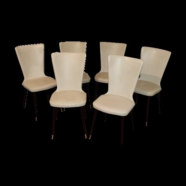 Selency Lot de 6 chaises Baumann modèle essor
