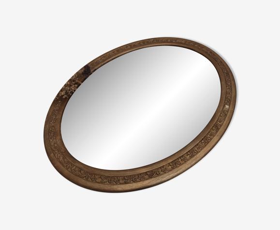 Miroir ovale art déco 46x36 cm