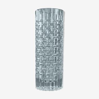 Vase à stries géométrique