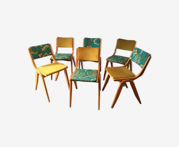 Set de 6 chaises vintage
