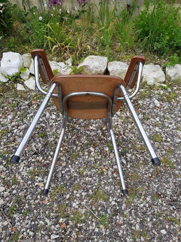 Ancien fauteuil confort lux métal chromé