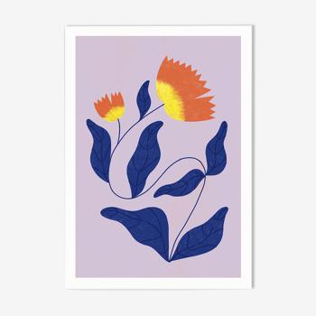 """illustration """"La fleur solitaire"""" A4"""