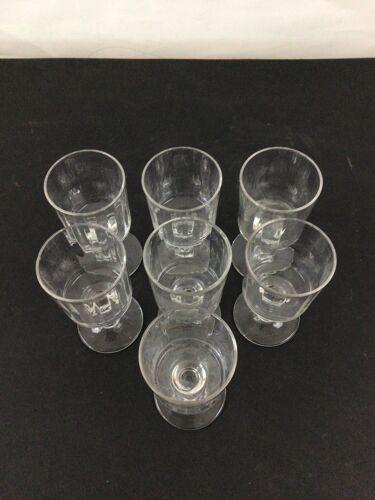 Set de 6 verres à pieds XIXeme