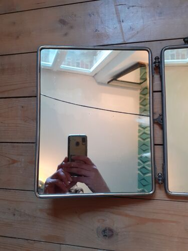 Miroir ancien triptyque
