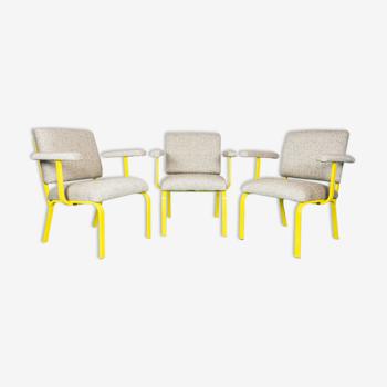 Ensemble de 3 chaises années 70