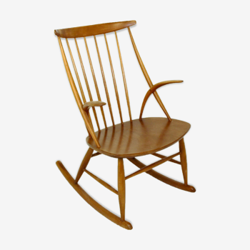 Rocking-chair No. 3, Illum Wikkelsø, Danemark, 1960