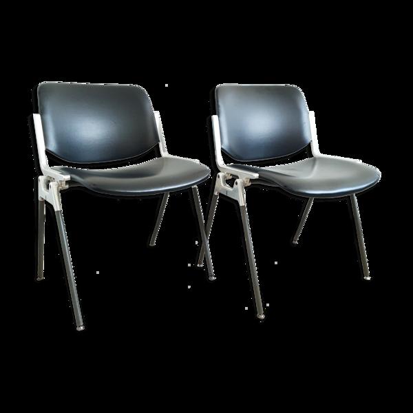 Paire de chaises DSC 106 Giancarlo Piretto pour  Castelli