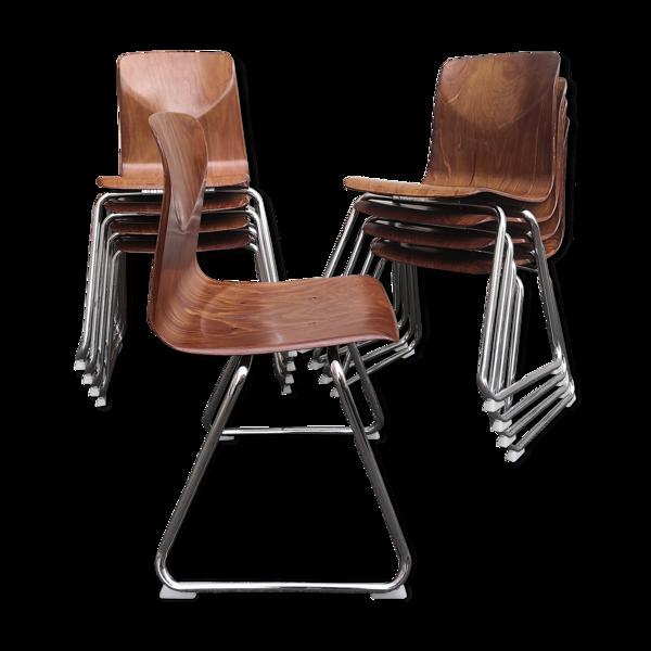 9 chaises Pagholz modèle Thur-Op-Seat