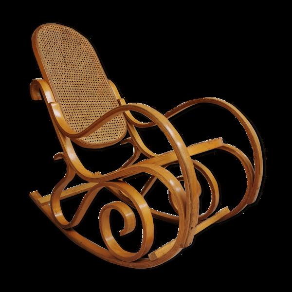 Rocking chair en cannage