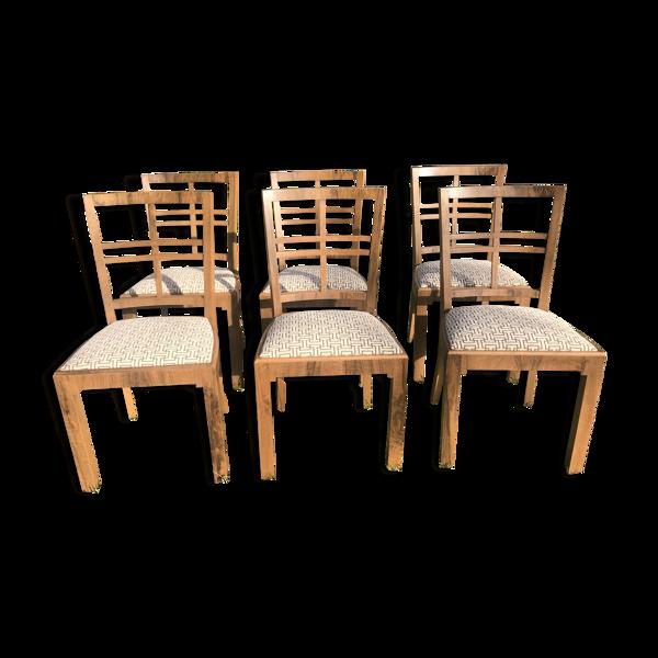 Suite de 6 chaises époque Art Déco