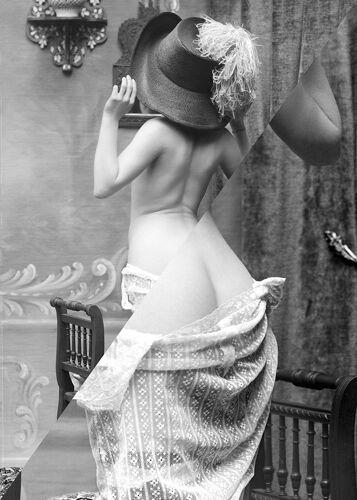 Photographie vintage femme cabaret 1930 - A4