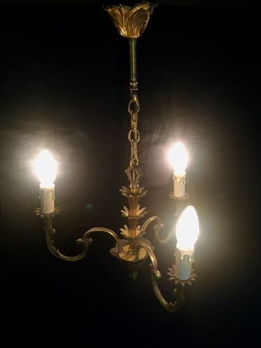 Lustre 3 lumières en bronze