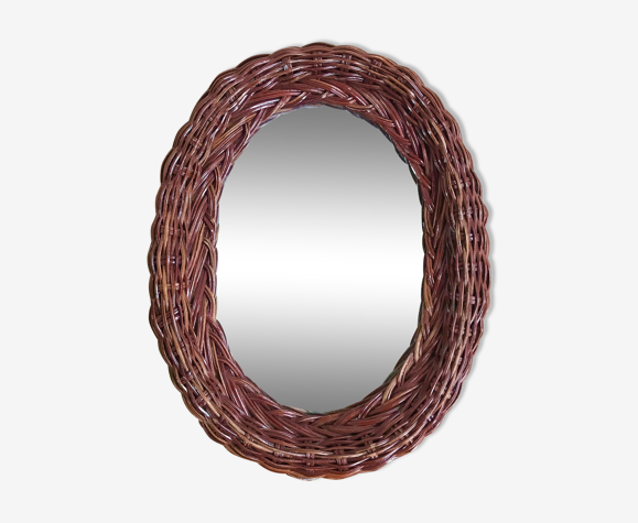Miroir en osier 31x17cm
