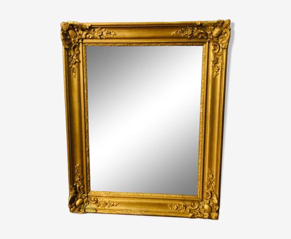 Miroir ancien en bois doré 50x62cm