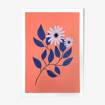 """Illustration """"Les violettes"""" A4"""