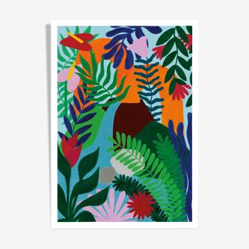 """illustration """"île bourbon"""" - A4"""