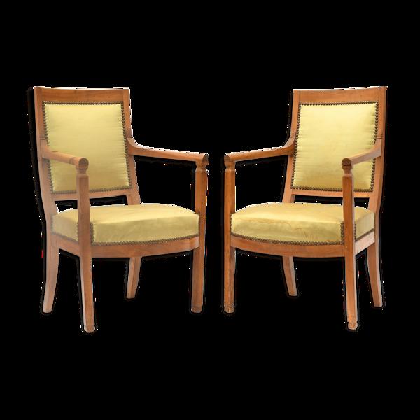 Paire de fauteuils de style restauration