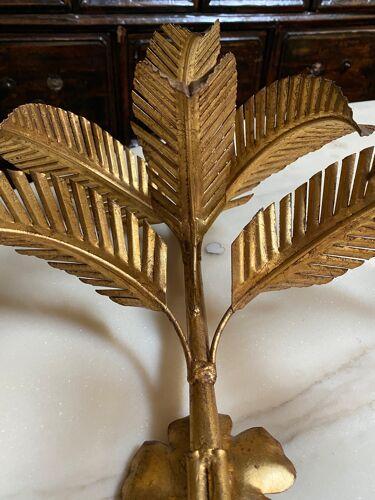 Paire d'appliques vintage palmier seventies