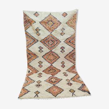 Tapis pure laine style berbère diamond 257 x 144 cm