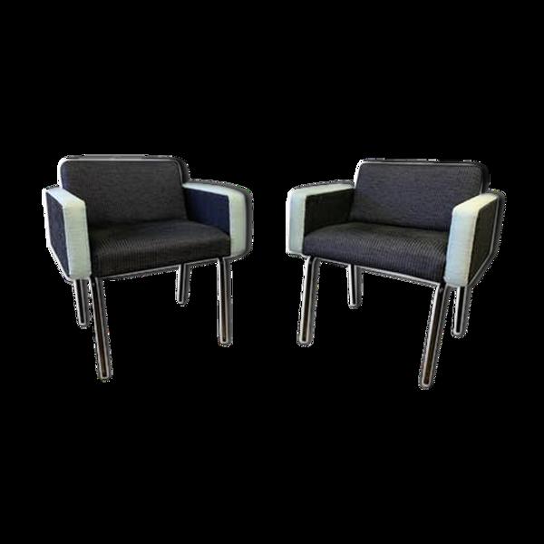Paire de fauteuils modernistes années 60