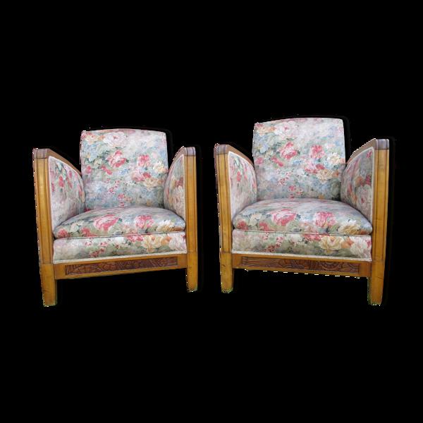 Paire de fauteuils epoque art-deco