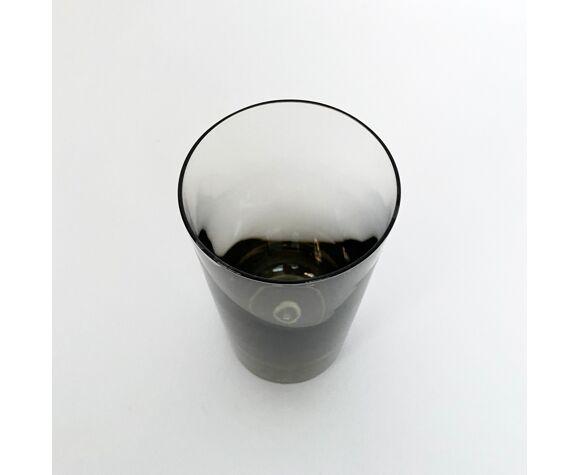 Verres Krosno vintage en verre fumé