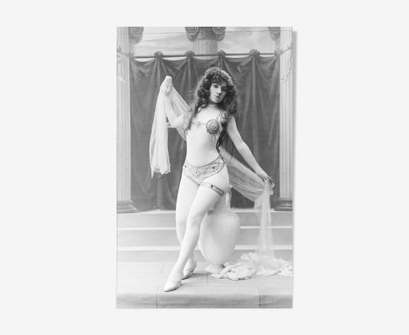 Photo de danseuse 1900 femme nue papier  baryté 300g format 30x45