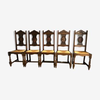 6 chaises style breton