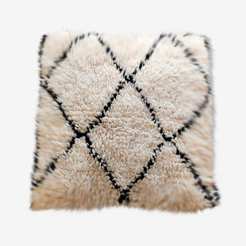 Coussin marocain berbère beni ouarain fait main 50 x 50 cm