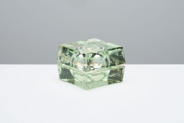 Lampe Cubosfera en verre circa 1990