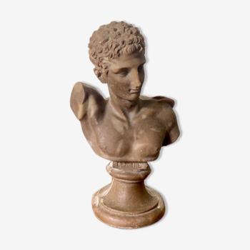 Buste d'Hermès en albâtre