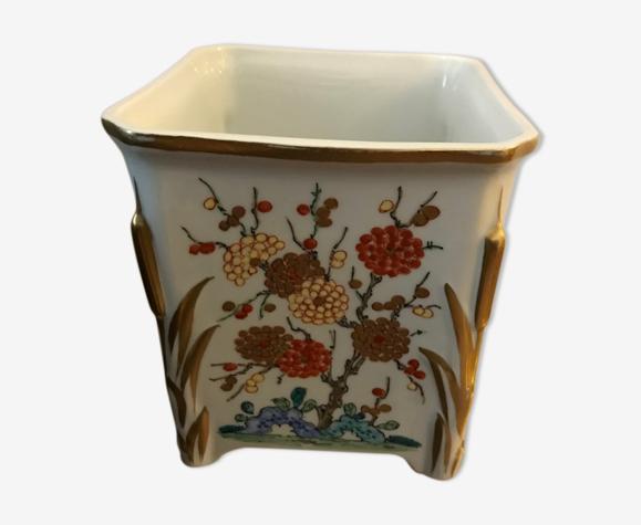 Vase peint à la main en porcelaine, j.d. dumont limoges