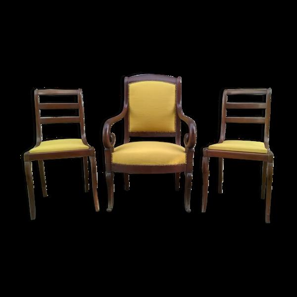 Ensemble fauteuils et chaise restauration