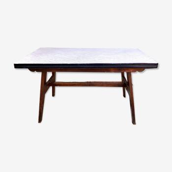 """Table moderniste """"Reconstruction"""" de 1945 - 1955 par Renée Gabriel : mobilier de sinistrés"""