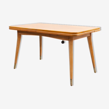 Table haute - basse, années 50, bois de cerisier, restauré