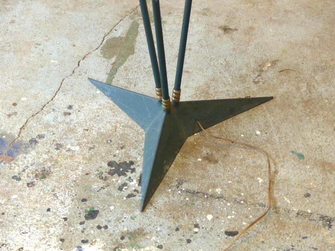 Lampadaire pied en étoile 1950