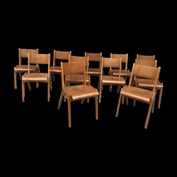 Série de 11 chaises 1950/1960