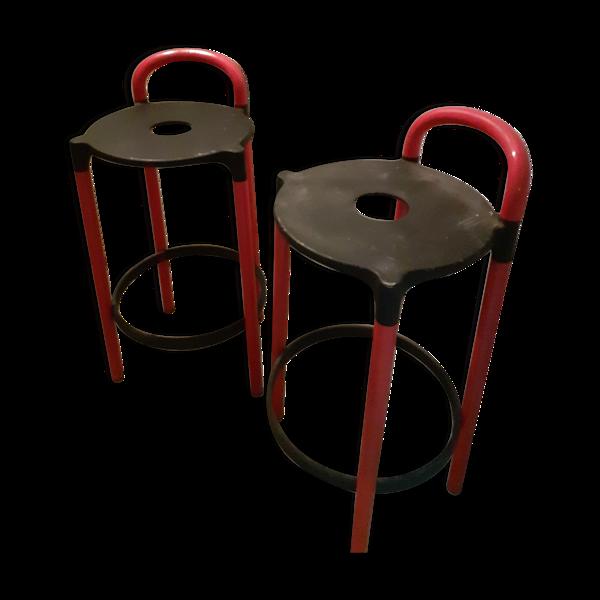 2 chaises hautes, type bar design 1980 de marque Kartell