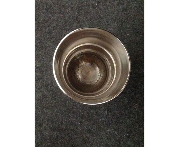 Timbale en métal argenté