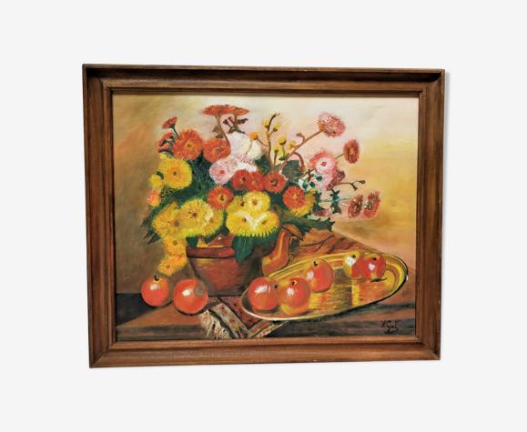 Peinture bouquet de fleurs