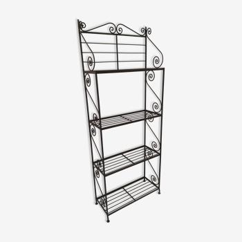 Wrought iron linen shelf
