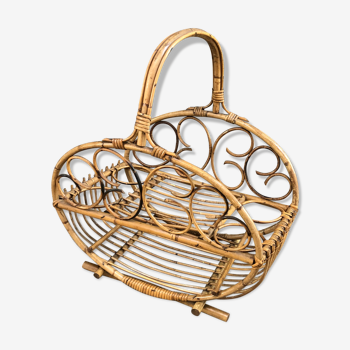 Rattan bottle/bar carrier from the 1960s.