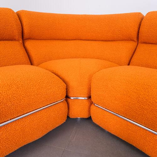 Canapé modulaire bouclé Coccio design des années 70 vintage