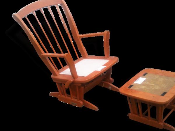Selency Dutailier chaise berçante et tabouret