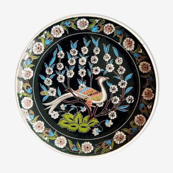 Assiette murale oiseau Turquie