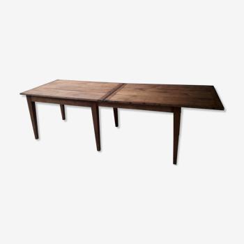 Table de ferme à rallonges 248 cm