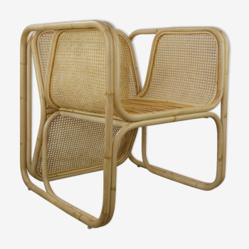 Chaise design cannage et rotin