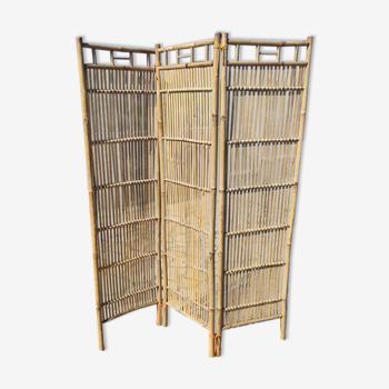 Paravent en bambou vers 1980