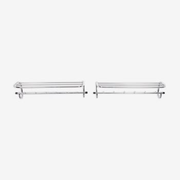 Two Chrome Bauhaus Wall Coatrack