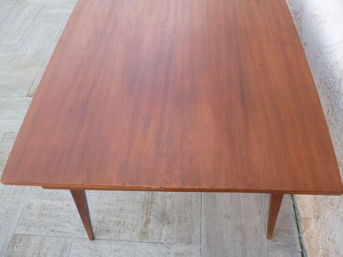 Table de salle a manger avec rallonges  en teck vintage